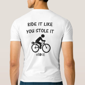 """Stole it"" cycling active tops for men"