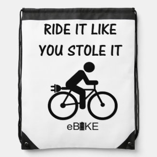 """Stole it"" cycling bags"