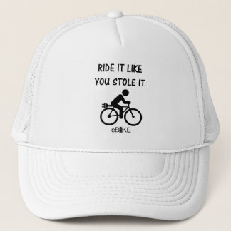 """Stole it"" cycling hats for him and her"