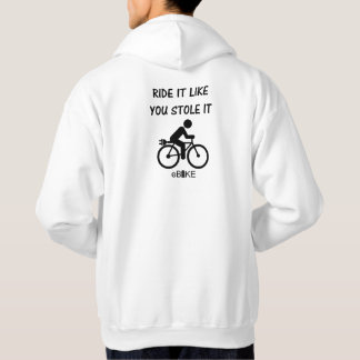 """Stole it"" cycling hoodies for men"