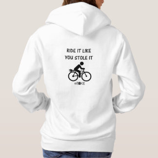 """Stole it"" cycling hoodies for women"