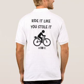 """Stole it"" cycling polo shirts for men"