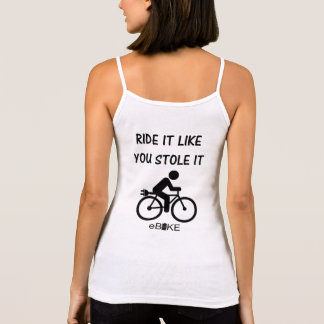 """Stole it"" cycling tank tops for women"