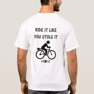 """Stole it"" cycling tees for men"
