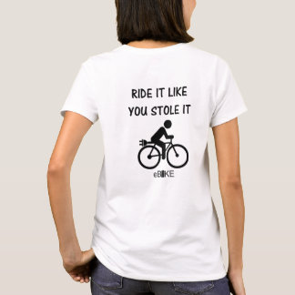 """Stole it"" cycling tees for women"