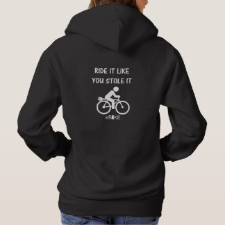 """Stole it"" ebike cycling hoodies for her"