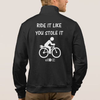 """Stole it"" ebike cycling jackets for him"