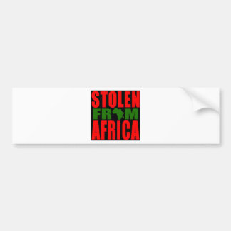 Stolen from Africa - Red Black and Green Flag Bumper Sticker