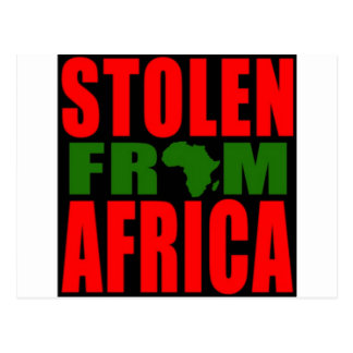 Stolen from Africa - Red Black and Green Flag Postcard