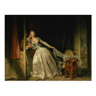 Stolen Kiss - Fragonard Postcard