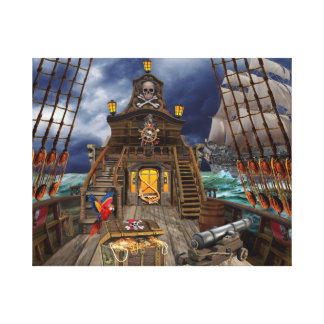STOLEN PIRATE TREASURE CANVAS PRINT