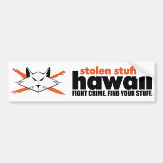 Stolen Stuff Hawaii Bumper Sticker