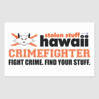 Stolen Stuff Hawaii Crimefighter Sticker