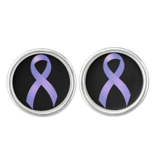 Stomach Cancer Periwinkle Ribbon Cufflinks
