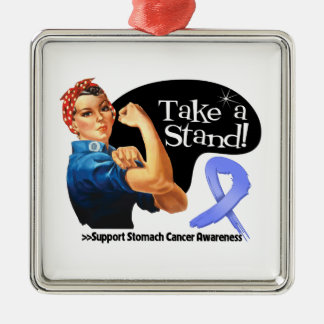 Stomach Cancer Take a Stand Christmas Ornaments