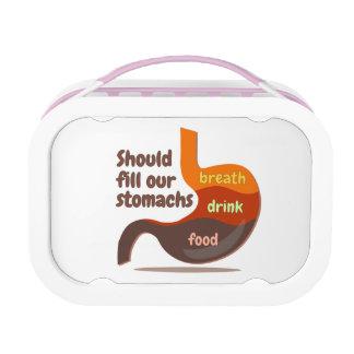 Stomachs food drink breath Yubo Lunchbox, Pink Lunch Box