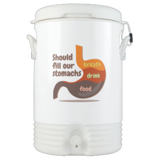 Stomachs food drink Igloo  Cooler, Five Gallon Drinks Cooler