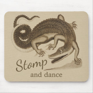 Stomp and dance CC0895 Wild happy crocodile Mouse Pad