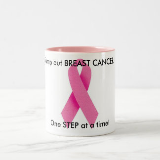 Stomp out Breast Cancer Two-Tone Coffee Mug