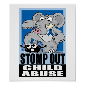 Stomp Out Child Abuse Poster