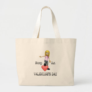 Stomp Out Valentine s Day Tee Tote Bags