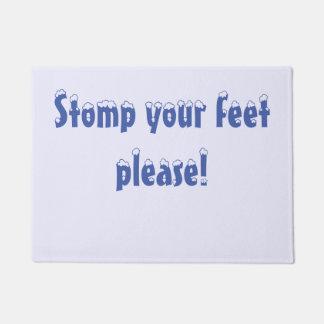 Stomp your feet Door Mat