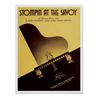 Stompin' At the Savoy Vintage Songbook Cover Poster