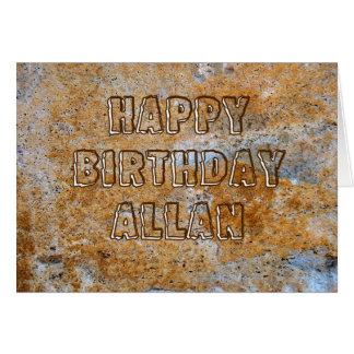 Stone Age Happy Birthday Allan Card