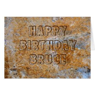 Stone Age Happy Birthday Bruce Card