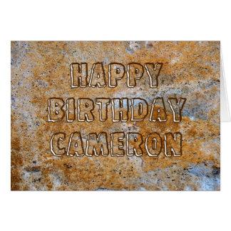 Stone Age Happy Birthday Cameron Card