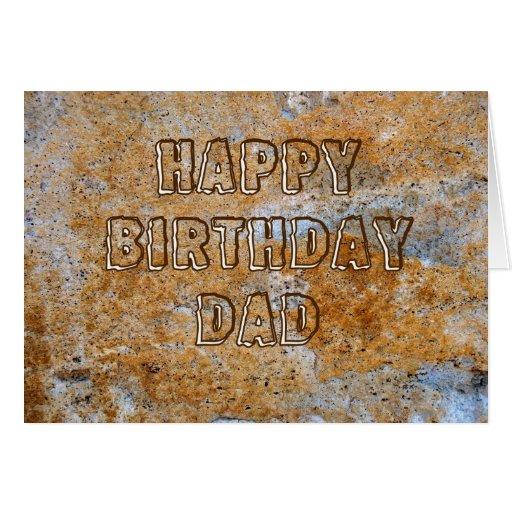 Stone Age Happy Birthday Dad Card