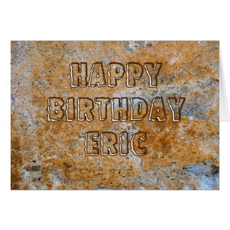 Stone Age Happy Birthday Eric Card