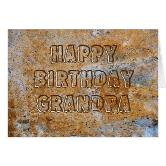 Stone Age Happy Birthday Grandpa Card