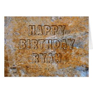 Stone Age Happy Birthday Ryan Card