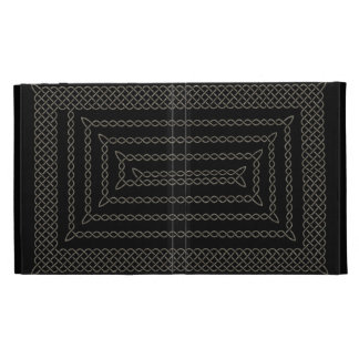 Stone And Black Celtic Rectangular Spiral iPad Case