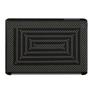 Stone And Black Celtic Rectangular Spiral iPad Mini Covers