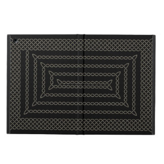 Stone And Black Celtic Rectangular Spiral iPad Air Cases