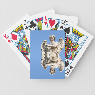 Stone angel in Rome, Italy Bicycle Playing Cards