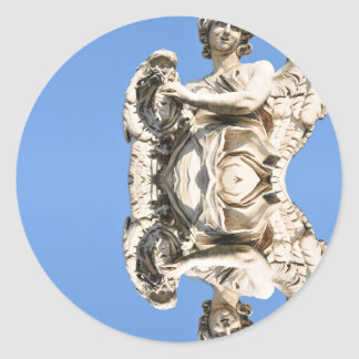 Stone angel in Rome, Italy Classic Round Sticker