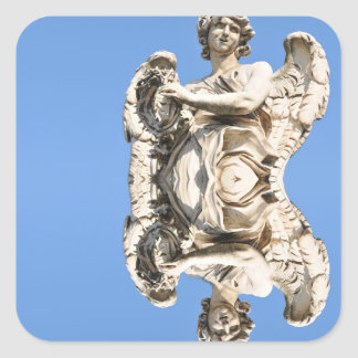 Stone angel in Rome, Italy Square Sticker
