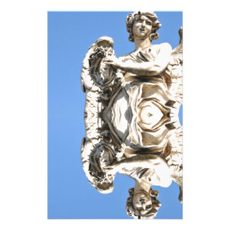 Stone angel in Rome, Italy Stationery