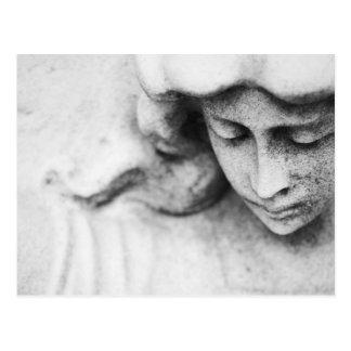 Stone angel post card