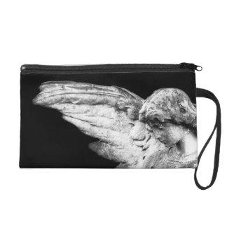 Stone  Angel Satin Clutch Bag Wristlet