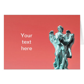 Stone angel statue card