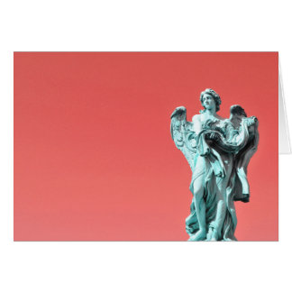 Stone angel statue card
