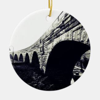 Stone Arch Bridge Ceramic Ornament