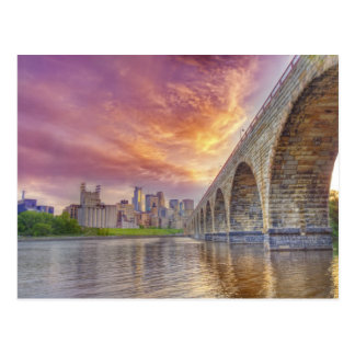 Stone Arch Bridge Postcard