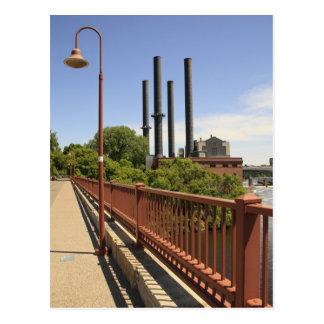 Stone Arch Bridge View Postcard