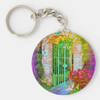 Stone Arch Colorful Gate Key Ring