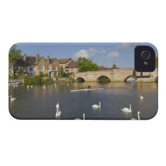 Stone arched bridge and River Ouse, St Ives, iPhone 4 Case-Mate Case